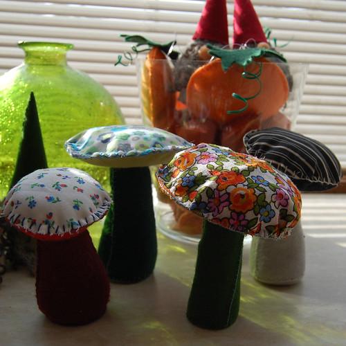 Felt mushrooms / Vilten paddestoelen