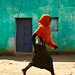Girl running in the street - Hawzien village, Tigray, Ethiopia by Alex_Saurel