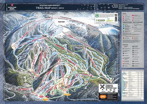 Winter Park - mapa sjezdovek