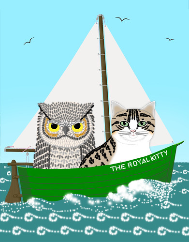 Owl and Pussycat at sea