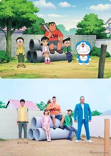111118(1) – TOYOTA ReBORN形象廣告《哆啦A夢 真人版》主角演員陣容出爐,『10歲 vs. 30歲』今昔對比大合照!