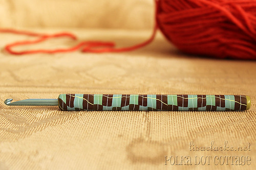 Polymer-covered crochet hook