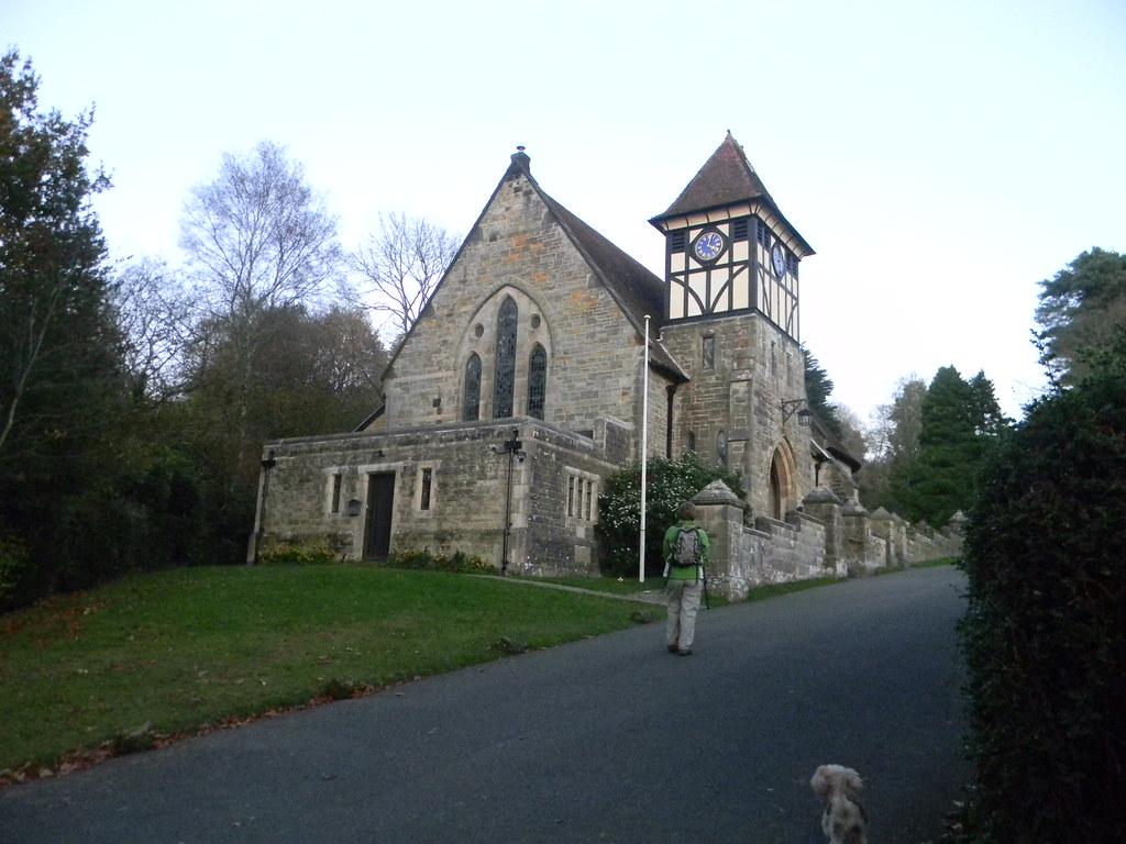 Mock Tudor Tower Holy Trinity Church, High Hurstwood. Buxted Circular