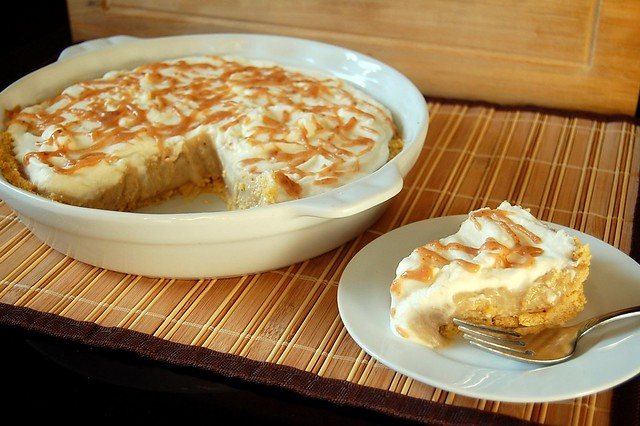Visions of Sugar Plum: Bananas Foster Peanut Butter Pie