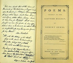 'Poems chiefly in the Scottish dialect' by Robert Burns. The Kilmarnock edition: 1786. Sp Coll 3016