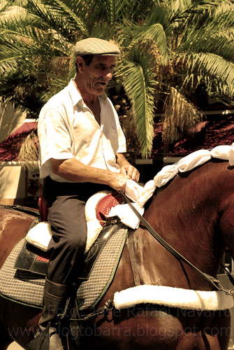 Paseo de caballos por el Recinto Ferial