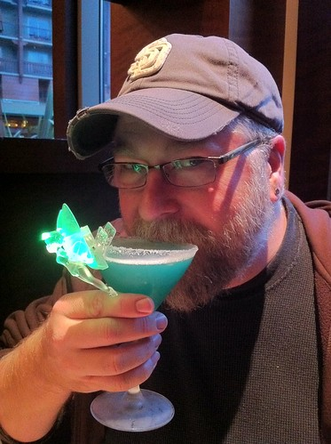 JP's drink came with a light-up Tinkerbell.  JP is kind of like a light-up Tinkerbell.