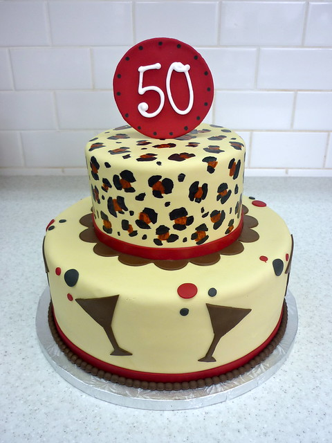 Funky Leopard 50th Birthday Cake Flickr - Photo Sharing!