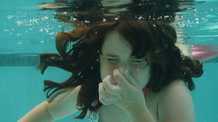 Sammy underwater