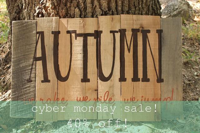 autumn leaves - cyber monday sale