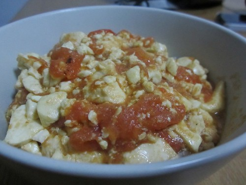 vegan tomato eggs