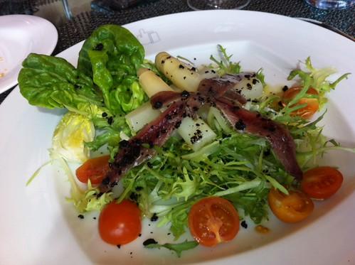 Ensalada Quatre Restaurante Hotel Meliá Bilbao by LaVisitaComunicacion