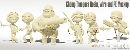Chomp Troopers Resin, Wire and PE Mockup