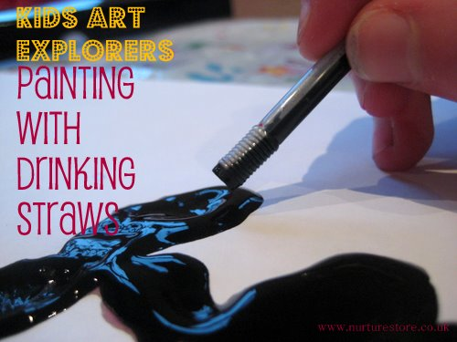 kids art drinking straws