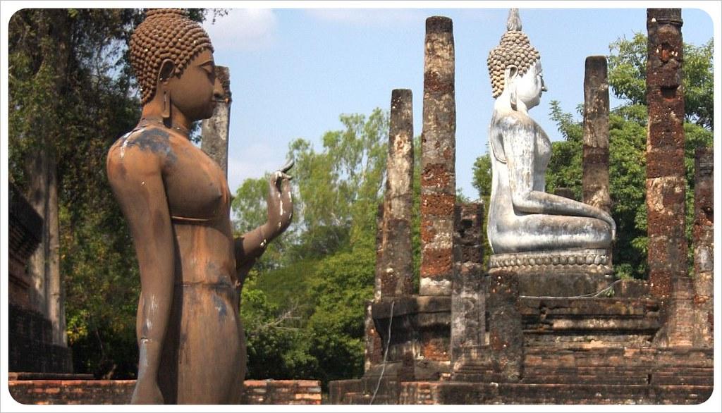 two buddhas sukothai