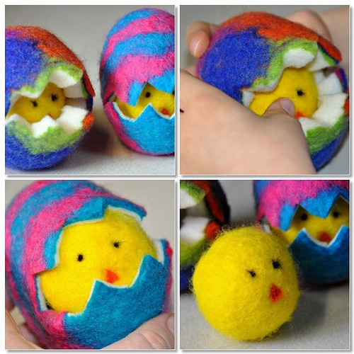 wet felted easter eggs mosaic5