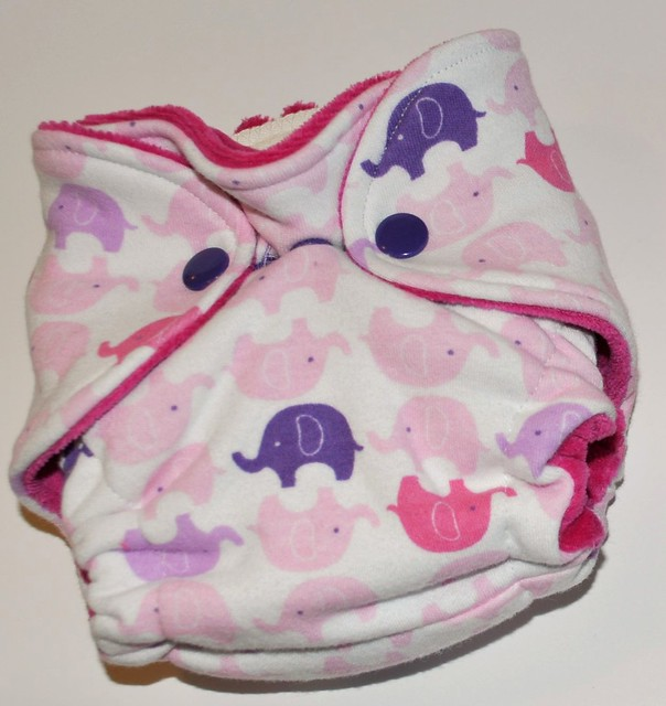 Bumstoppers Newborn Hybrid Fitted Sweet Elephants **New Style**