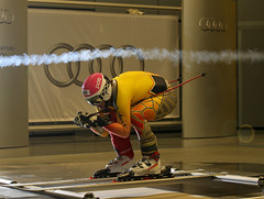 Ben Thomsen at the Audi Wind Tunnel Centre in Germany