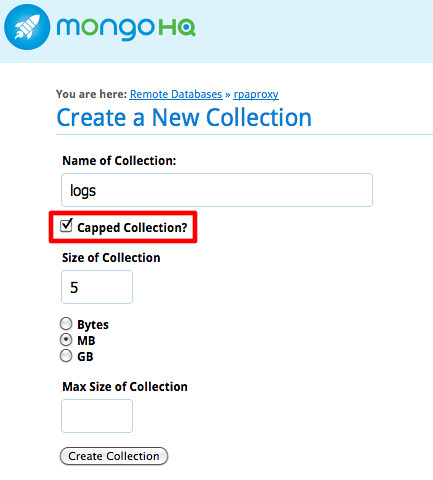 mongodb - capped collection