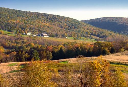 autumn sky mountains rural landscape pennsylvania farm hills valley creativecommons fields cloudless wyomingcounty endlessmountains bartlettmountain northbranchtownship