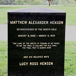 Grave of Matthew Henson - rear - Arlington National Cemetery - 2011