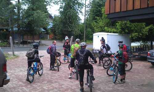 Getting ready to ride out from the T2R Lodge
