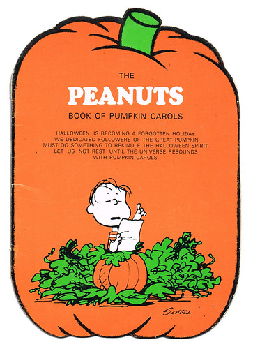 The Peanuts Book of Pumpkin Carols - Cover