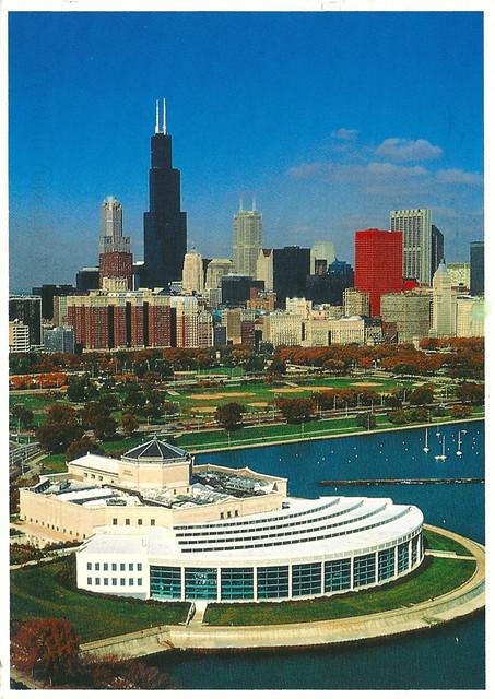 Illinois Chicago Aerial View Of Shedd Aquarium Flickr
