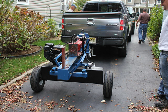 how to make a homemade hydraulic log splitter
