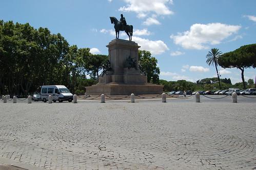 Mitten auf dem Giancolo steht eine Reiterstatue von Garibaldi dem Gründer des modernen Italiens