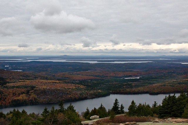 Blue Hill from Cadillac Mountain, Maine