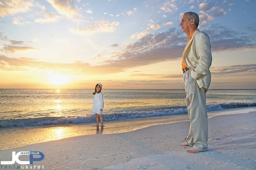 Avante-Garde Father & Daughter Sunset Beach Portrait Treasure Island Florida