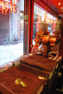 Roasted coffee beans...