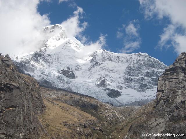 In the shadow of Huascaran mountain