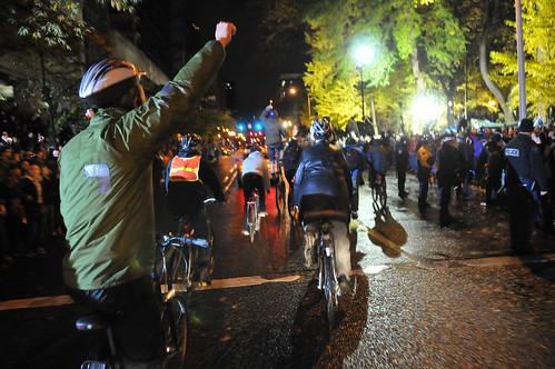 Occupy Portland bike swarm-8-7