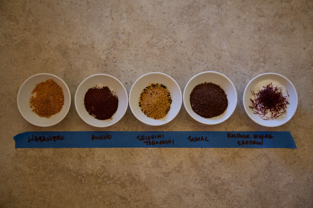 Our chef's exotic spices