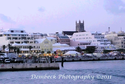 Hamilton Bermuda  harbor sunset