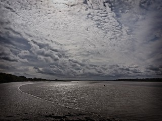 Clouds over the river Colne