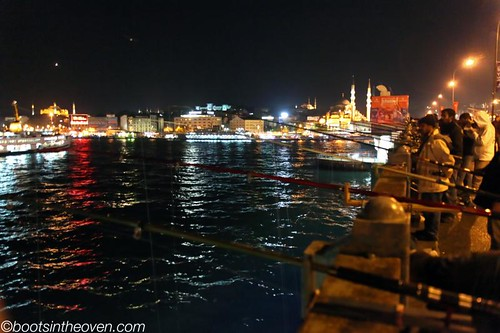 Night Fishing from the Sultanahmet Bridge