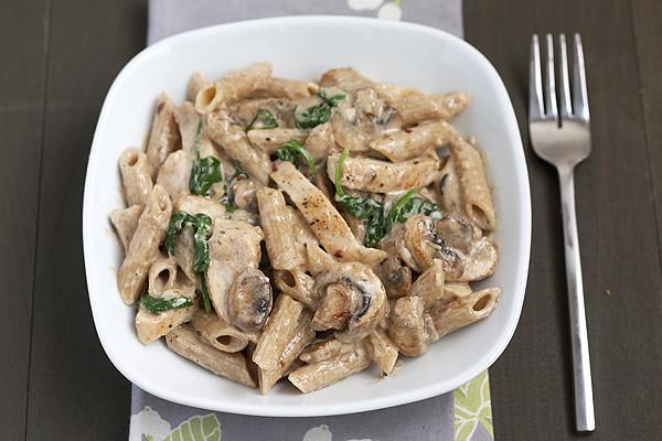Creamy chicken and mushroom tagliatelle recipe