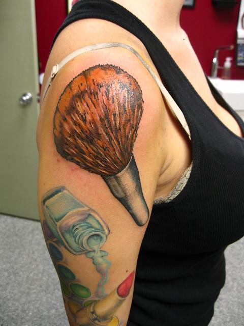 makeup brush tattoo - photo #4