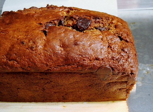 Coffee Banana Bread with Chocolate Chips