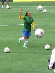 Marta warming up