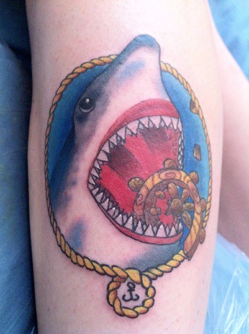 american traditional shark American Traditional Shark Tattoo
