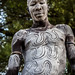 portrait of the mursi tribe man with the body painting