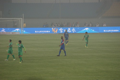 Anelka in Beijing for his first CSL game with Shanghai Shenhua