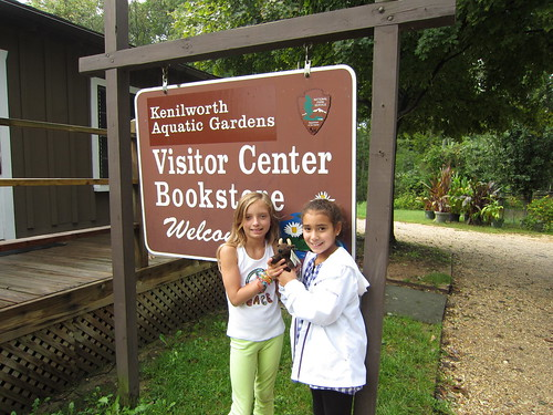 Students and Buddy Bison visits Kenilworth Aquatic Gardens