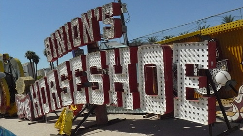 Binion's Horseshoe sign, Neon Boneyard, Las Vegas
