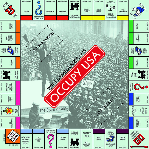 BANZAI7'S OCCUPY USA MONOPOLY BOARD GAME by Colonel Flick