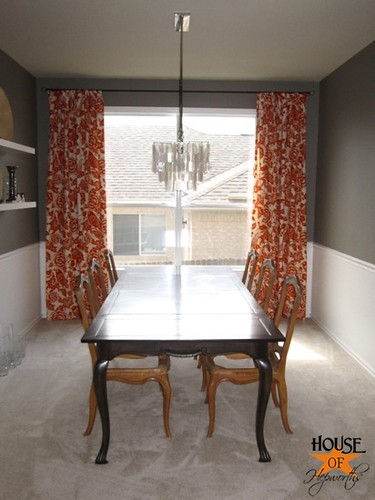 orange you glad you chose thomas paul my dining curtains. Black Bedroom Furniture Sets. Home Design Ideas